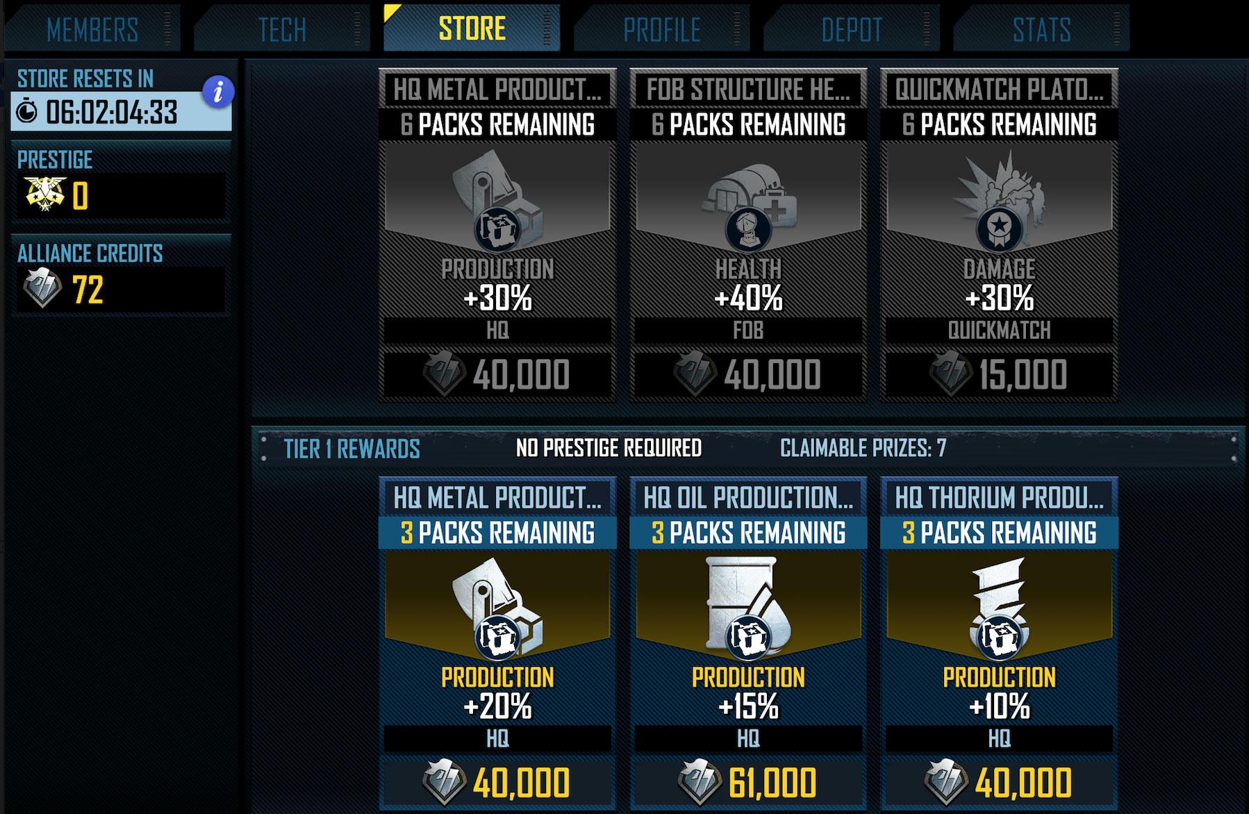 War commander raid prizes